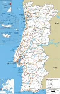 detailed map of maps of portugal detailed map of portugal in