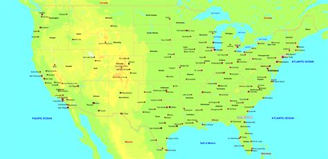 map usa major cities index of usa images