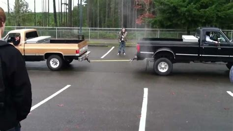 Ford Truck Vs Chevy by Ford Vs Chevy Truck Pull