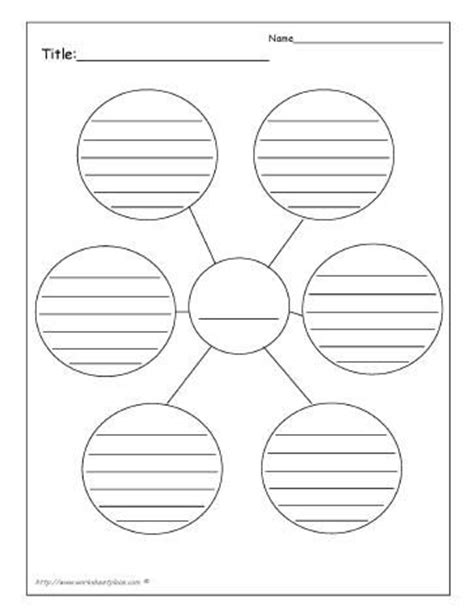 printable bubble organizer generic brainstorm teaching the kiddos pinterest