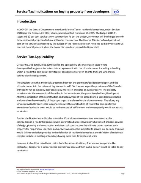 tax implications of buying a house service tax implications on buying property from developers