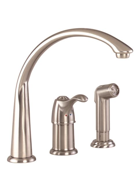Kitchen Faucet Plumbing Allerton Single Handle Kitchen Faucet With Spray Gerber