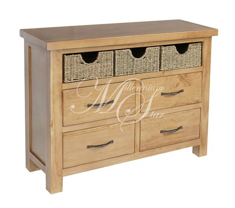 unfinished wood storage drawers solid wood chunky pine large chest of drawers storage unit