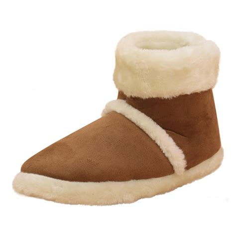 mens slipper boots uk dunlop mens microsuede ankle boots slippers warm