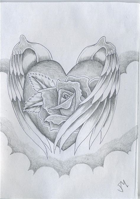 images of love drawings wings of love drawing by justin murdock