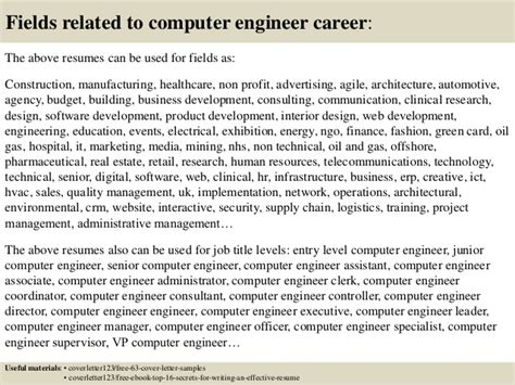 Best Mba Field For Computer Engineers by Cover Letter For Computer Engineer Cover Letter