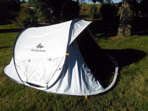 tende quechua 2 seconds test de la tente de cing quechua 2 seconds e kairn