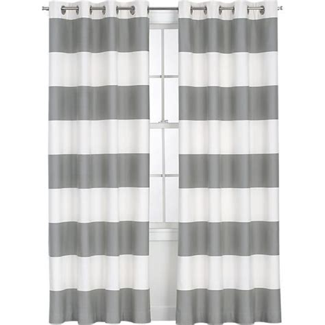 Gray Striped Curtains How To Paint Curtains Infarrantly Creative