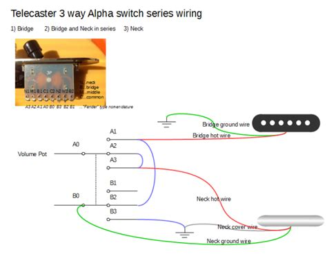 telecaster series wiring 3 way switch diagram telecaster