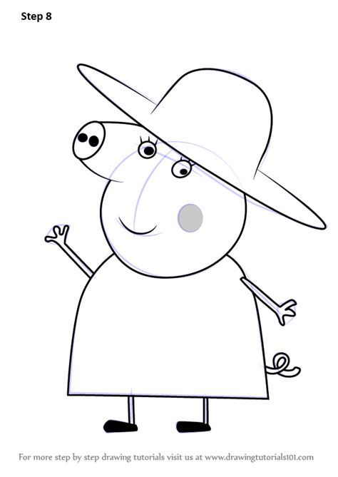 learn how to draw granny pig from peppa pig peppa pig