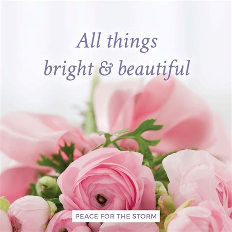 all things bright and beautiful peace for the
