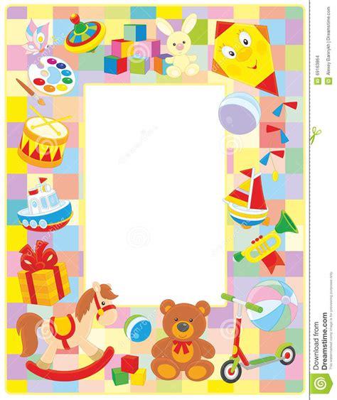 cornice per foto bambini cornice dei bambini illustrazione vettoriale