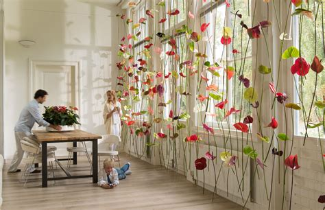 curtains decoration original window decoration anthurium flower curtains