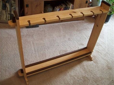 How To Build A Fishing Pole Rack by Oak And Walnut Fishing Rod Rack By Ghost5 Lumberjocks