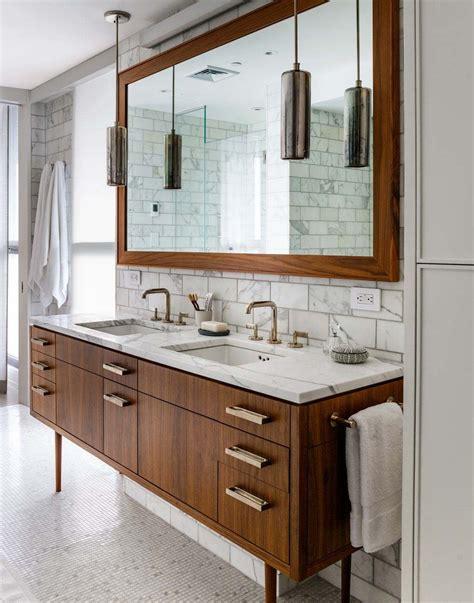 37 amazing mid century modern bathrooms to soak your - Mid Century Badezimmer Vanity
