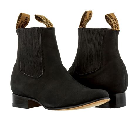 black dress cowboy boots for mens black nubuck leather ankle boots pull on dress