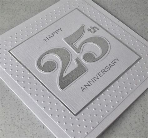Handmade Silver Wedding Anniversary Cards - paper cards no quilling again
