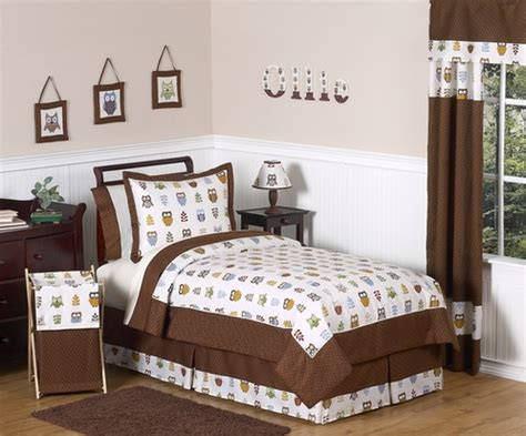 owl twin bed set night owl childrens bedding 4 pc twin set only 119 99
