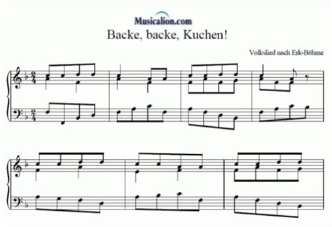 backe backe kuchen backe backe kuchen anonymus sheet to