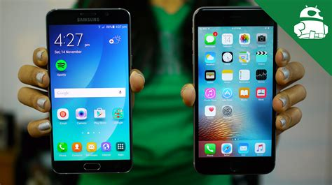 samsung galaxy note 5 vs iphone 6s plus