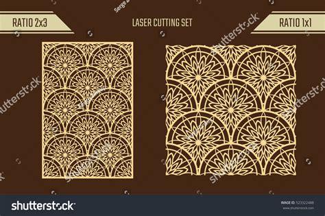 seamless pattern diy diy laser cutting set woodcut vector stock vector