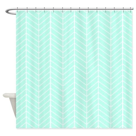 mint colored shower curtain mint green herringbone shower curtain by inspirationzstore