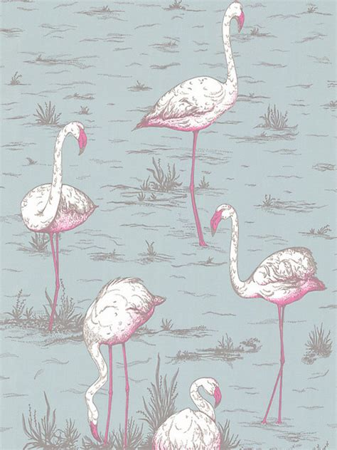 flamingo wallpaper cole and son cole son flamingos wallpaper eclectic wallpaper by