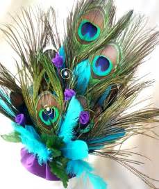 peacock wedding decorations wedding cake topper peacock feathers turquoise by amorebride