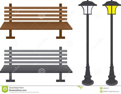 poste banco postes banco y de la luz ilustraci 243 n vector