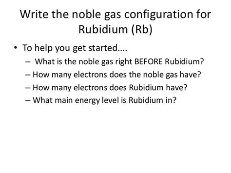 How Many Protons Does Rb Electron Configuration