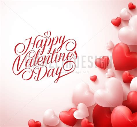 happy valentines day 3d happy valentines day greetings with 3d hearts amazeindesign