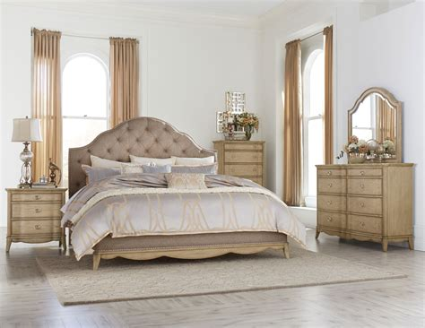 King Headboard Bedroom Sets by Versailles Upholstered Ivory Velvet Bed Bedroom Set