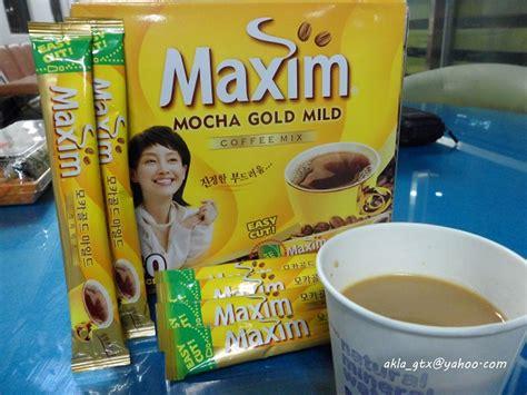 Maxim Korean Coffee akla s food quest maxim mocha coffee korea