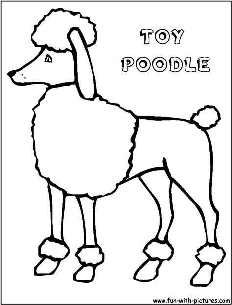 free poodle toy coloring pages