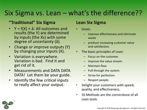 six sigma or lean methodology