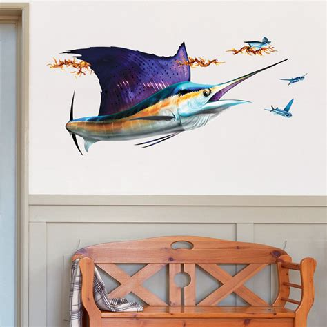 wall stickers fish sailfish wall decal bold wall