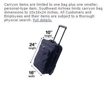 southwest airlines baggage policy carry on and personal item the southwest airlines community