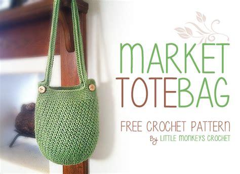 crochet pattern market tote market tote bag free crochet pattern