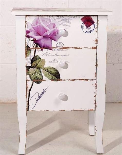 Decoupage Wood Furniture - beautiful nightstand with transfer furniture i