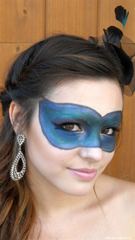Peafowl Lipstick tutorial makeup mask masquerade costume