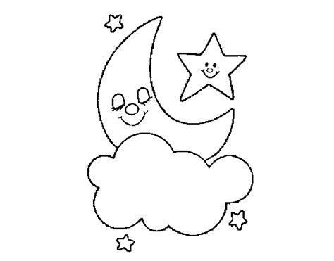 coloring page moon and stars moon and stars coloring page coloringcrew com