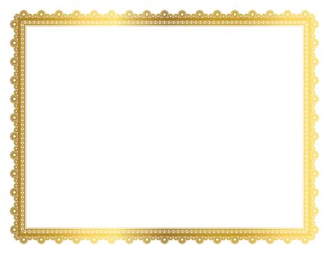 Cards Transparent Background Template For A 4x6 by Gold Border Frame Transparent Picture Hq Png