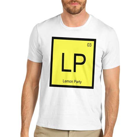 periodic table shirt s lp periodic table element lemon t shirt ebay
