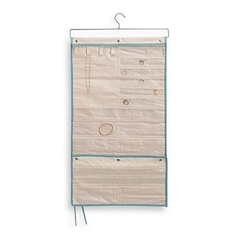 bed bath and beyond jewelry organizer real simple 174 hanging jewelry organizer bed bath beyond