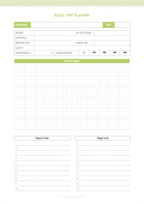 road trip planner template 5 road trip planner sles templates pdf