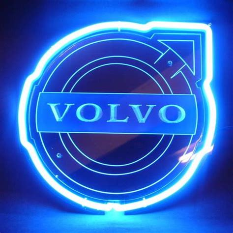 volvo logo volvo logo blue arrow neon bar mancave sign custom