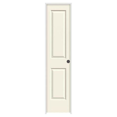 jeld wen interior doors jeld wen 18 in x 80 in molded smooth 2 panel square vanilla solid composite single