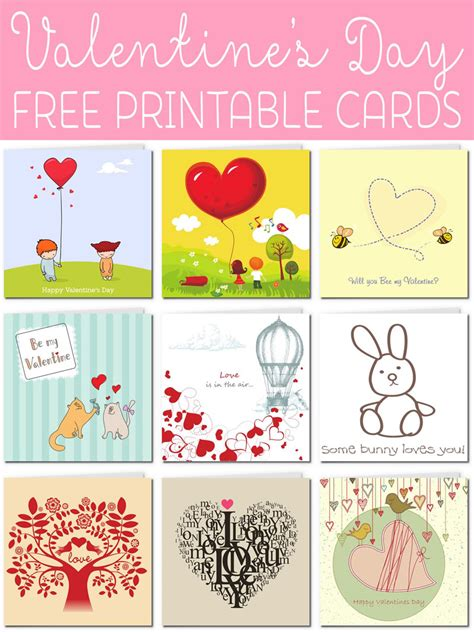 Free Printable Valentines Day Cards For free printable cards