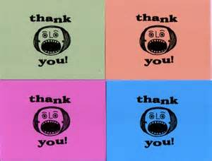 sale retro gocco thank you cards