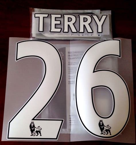 Ps Pro Custom Number White Premier League 2013 17 For Original Jersey 2013 17 chelsea legend home shirt terry 26 official ps pro sporting id name number set